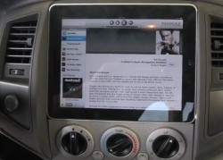 World's first Apple iPad in-car installation