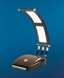 GE and Konica Minolta show off World's first flexible OLED lighting panels in a table lamp