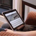GroovyStand puts your iPad comfortably in your lap