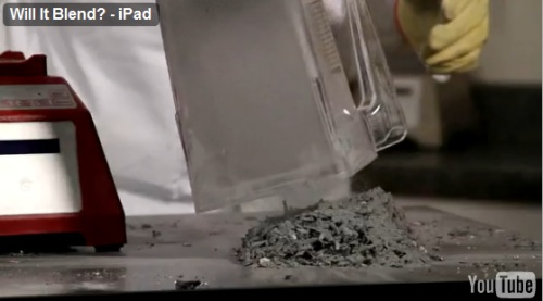 iPad destroyed in a blender
