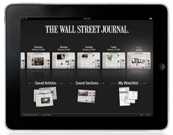 WSJ iPad subscription officially $17.29 per month