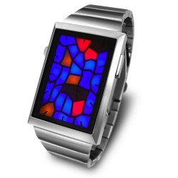 Tokyoflash Kisai Broke watch looks like broken stained glass