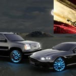 Motionlite's remote controlled, retractable LED hubcap spotlights