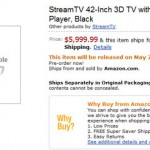 Amazon offers pre-order on StreamTV 3D TV needing no glasses