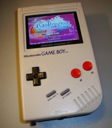 Game Boy with a Game Boy Advance inside