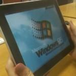 Windows 95 running on an iPad