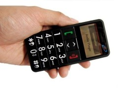Senior Citizen cell phone with big numbers and SOS panic button
