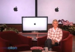 Ellen jokes about the iPhone...then apologizes