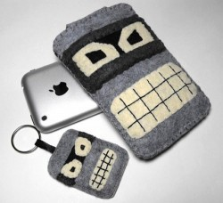 Bender iPhone case and keychain
