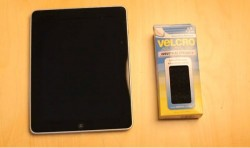 Velcro makes the iPad even more versatile