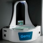 Gemy bathtub and shower in one
