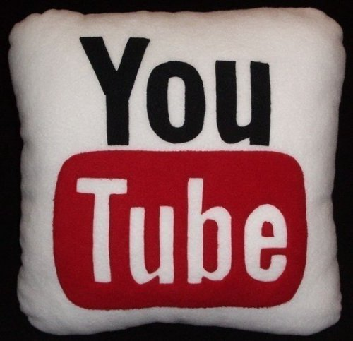YouTube and Yahoo pillows - SlipperyBrick.
