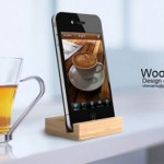 iPhone 4G wood dock