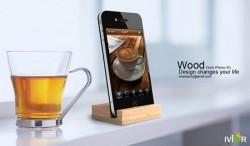 iPhone 4G wood dock
