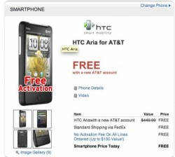 Dell offering HTC Aria for free