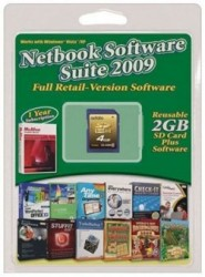 Netbook Software Suite bundled on a USB drive or SD Card