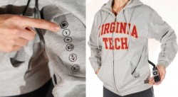 LimbGear iHood Hoodie with iPhone controls on the sleeve