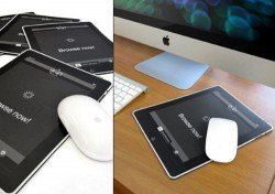 The iMousePad looks like an Apple iPad