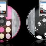 iWave iPod disk speakers with printed designs