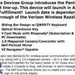 Verizon Wireless Pantech Jest gets detailed