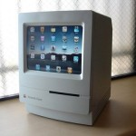 Mac classic makes a good dock for the ipad