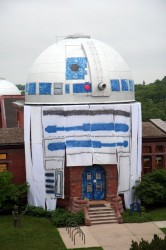 Astronomical Observatory turned into a giant R2-D2
