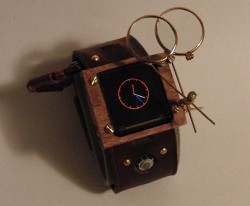 Steampunk Arduino Watch plays Breakout, may actually get worn