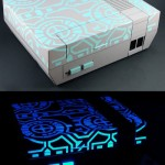 Glow In The Dark Tron NES case mod