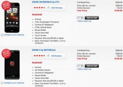 Motorola Droid X And HTC Incredible pushed back to August