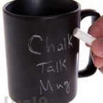 Chalkboard Coffee Mug lets you leave messages