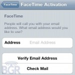 iPod touch FaceTime to use email addresses?