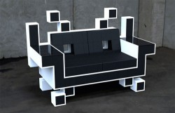 Space Invaders Couch looks uncomfortable