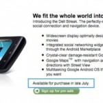 Dell Streak to be available in late July in the US