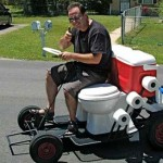 Toilet cart is the coolest geek chariot ever