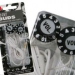 Volume Knob earphones keep your music retro
