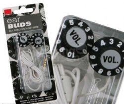 Volume Knob earphones keep your music retro