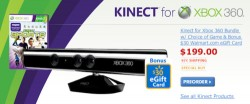 Wal-Mart offering $199 Kinect Bundle, Kinect games for $60