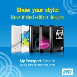 Western Digital 500GB My Passport Essential limited edition designs