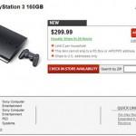 160GB PS3 slim shows up on GameStop's website