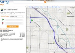 Bing Maps can now calculate taxi fares