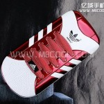Clamshell phone that looks like an Adidas sneaker