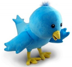 Plush Twitter Bird toy
