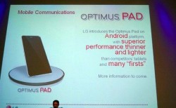LG's Android-based Optimus Pad spotted
