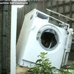 Washing machine beats self to death cleaning a brick