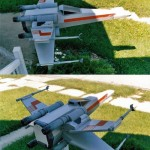 X-Wing fighter mailbox