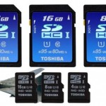 Toshiba UHS-I SDHC and microSDHC cards