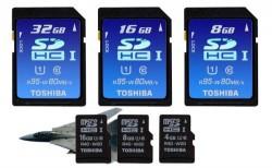 Toshiba UHS-I SDHC and microSDHC cards