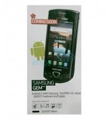 Best Buy guide lists Samsung's Android-based Gem handset