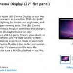 Apple 27-inch Cinema Display now for sale