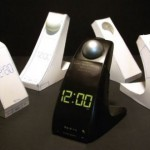 Annoying alarm clock throws a ball at you